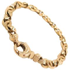 Satin and Polished Gold Bracelet