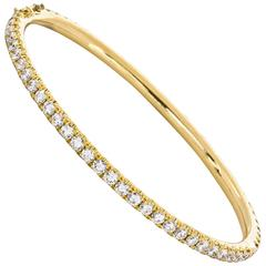 Bangle Bracelet Yellow Gold with Diamonds