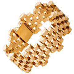French Retro 1940s Yellow Gold Bracelet