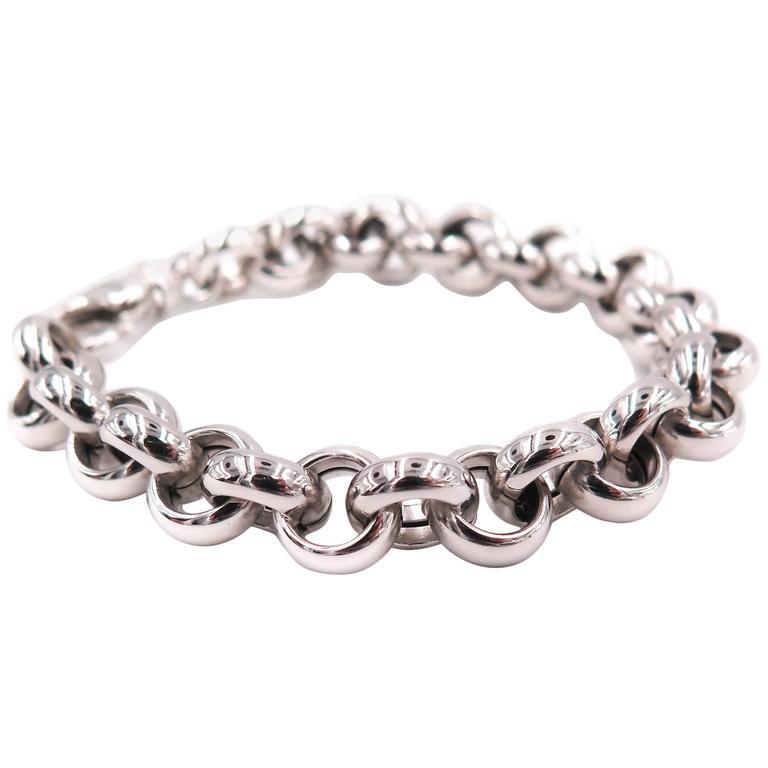 White Gold Rolo Bracelet