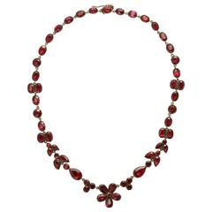 Beautiful Georgian Garnet Necklace