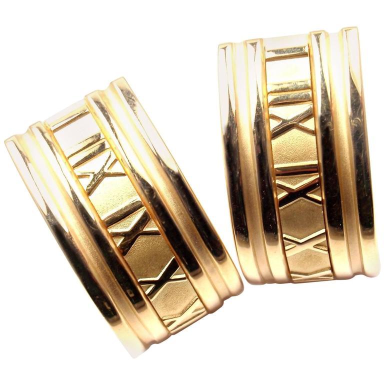 Tiffany & Co. Atlas Extra Large Yellow Gold Hoop Earrings