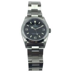 Rolex Stainless Steel Oyster Perpetual Explorer Automatic Wristwatch