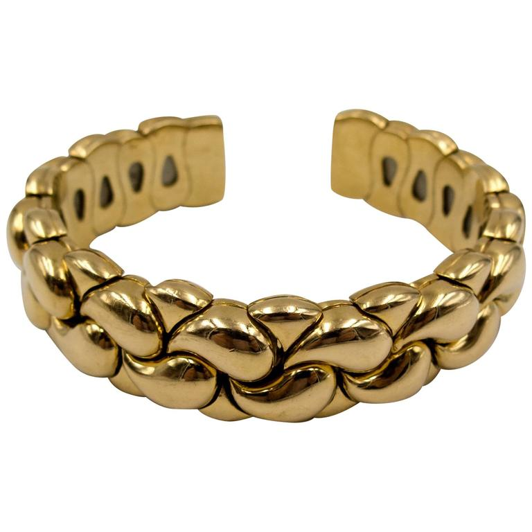 Chopard Paisley Motif Gold Tension Bracelet 1