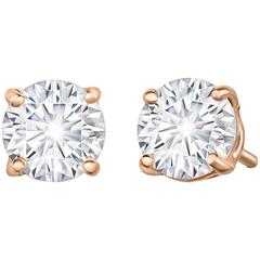 Marisa Perry 80 Point Forevermark Diamond Studs in Rose Gold