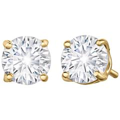 Forevermark 70 Point Yellow Gold Diamond Studs