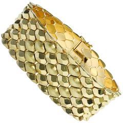 Wide Yellow Gold Bracelet by FOMP