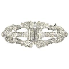 Art Deco Diamond Platinum Clips