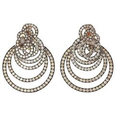 De Grisogono 22.00 Carat Diamond Rose Gold Gypsy Earrings