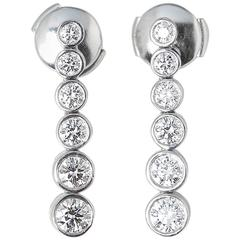 Tiffany & Co. Diamond Platinum Jazz Drop Earrings