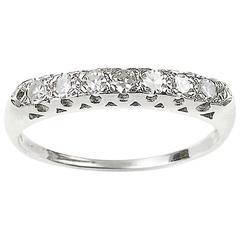 Diamond Platinum Half Eternity Ring
