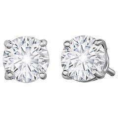 70 Points Forevermark Diamond Stud Earrings