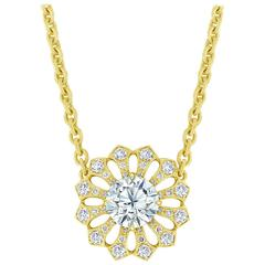 Bez Ambar GIA Certified Diamond Sunflower Necklace