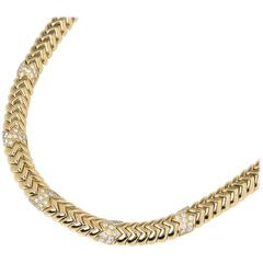 Bulgari Diamond Link Yellow Gold Necklace