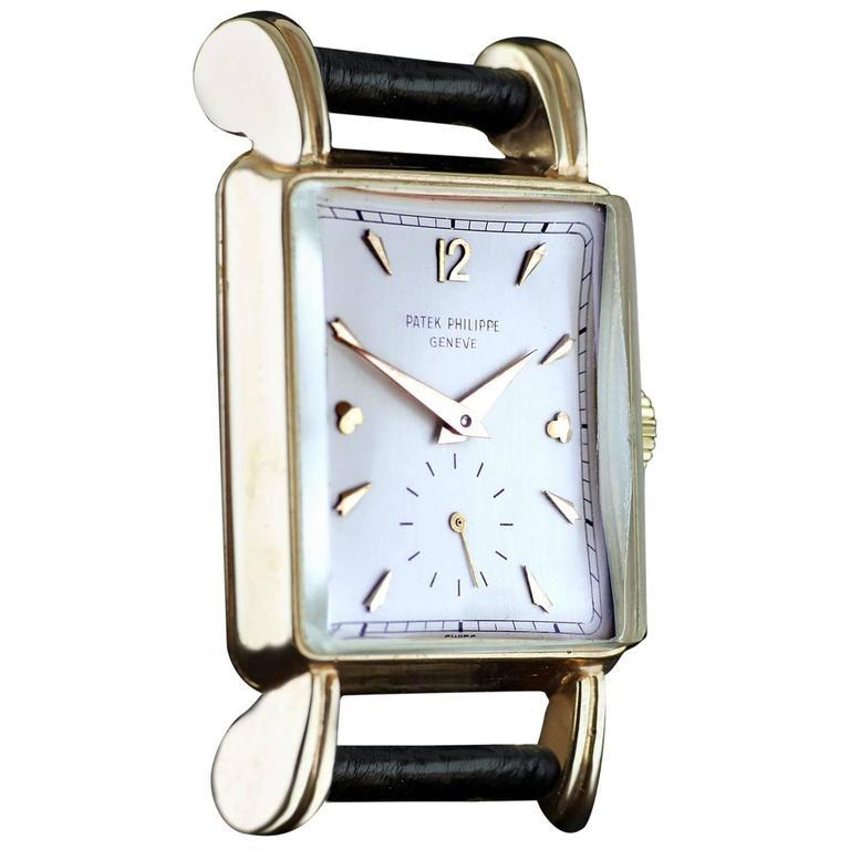 Patek Philippe Rose Gold Fluted Lugs Manual Wristwatch Ref 2440, circa 1950