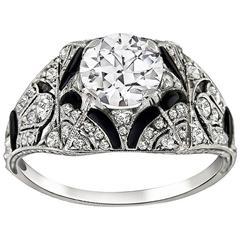 0.99 Carat GIA Certified Diamond Platinum Engagement Ring