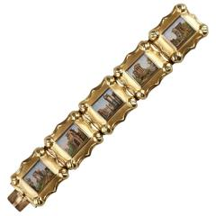 Gold and Micromosaic Bracelet, First Part of the 19th Century