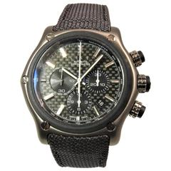 Ebel Titanium Chronograph Strap Deployant Buckle Automatic Wristwatch