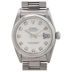 Rolex Stainless Steel Midsize Datejust Wristwatch Ref 68240, circa 1997
