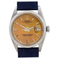 Rolex Stainless Steel Oyster Perpetual Date Wristwatch Model 1500, circa 1965