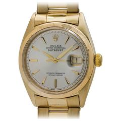 Rolex Yellow Gold Datejust Oyster Perpetual Self Winding Wristwatch, circa 1962