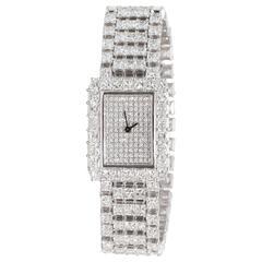 Mabros Ladies White Gold Diamond Quartz Wristwatch