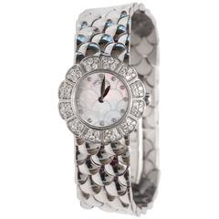 Patek Philippe Ladies White Gold Diamond Quartz Wristwatch