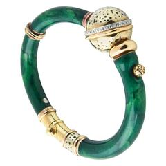 Nouvelle Bague Enamel and Diamond Bracelet