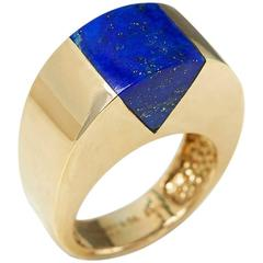 Tiffany & Co. Yellow Gold Lapis Lazuli Cocktail Ring