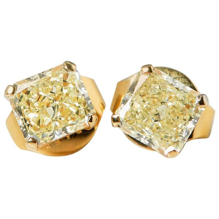 view pid round certified large yellow zoom halo gold earrings diamond stud