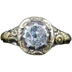 Antique Georgian Paste Stone Gold Ring