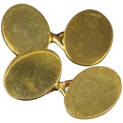 Antique Double Gold Cufflinks, circa 1900