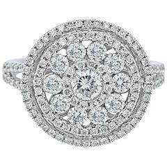Diamond White Gold Disc Ring
