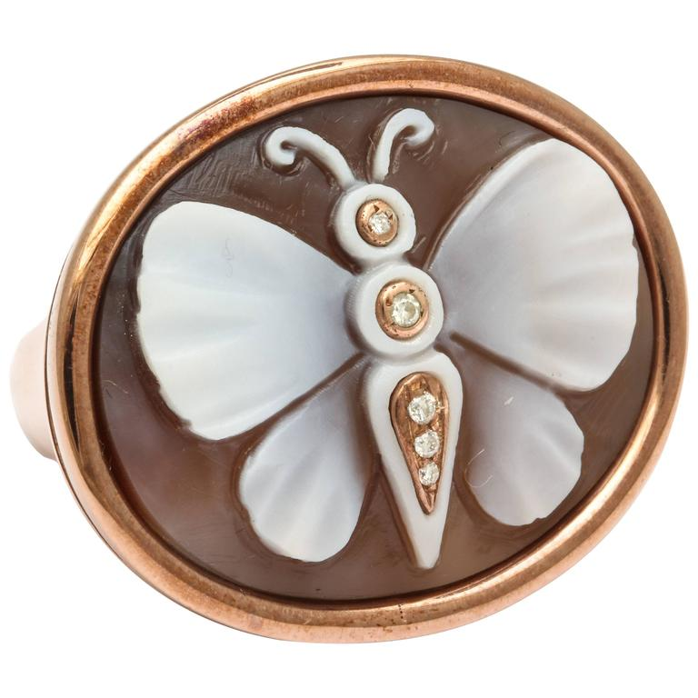 Amedeo Farfalla Cameo Ring