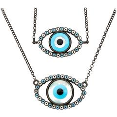 Amedeo Mother-of-Pearl Rhodium Plated Sterling Silver Evil Eye Necklace