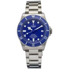 Tudor Titanium Pelagos Blue Dive Automatic Wristwatch Ref 25600TB