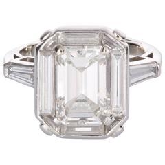 2.90 carat GIA Certified Emerald Cut Diamond & Platinum Ring
