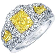 Frederic Sage 1.78 Carat Yellow and White Diamonds Ring