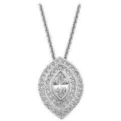 Imp Jewelry Marquise Diamond Halo Pendant