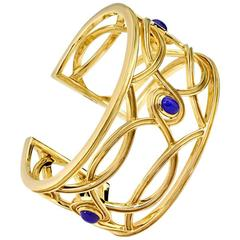Cassandra Goad Conca d'Oro Lapis Gold Cuff Bracelet