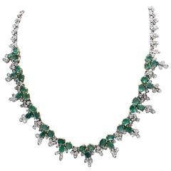 Luise Emerald Diamond Gold Necklace