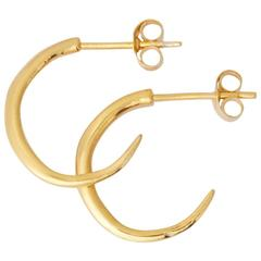 Allison Bryan Rustic Gold Hoop Earrings