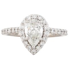 Ritani Pear Shaped Diamond Engagement Ring