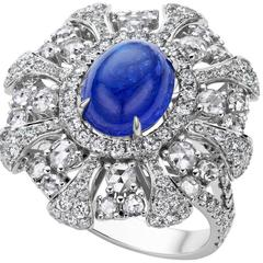 4.5 Carat Tanzanite Diamond Cocktail Ring