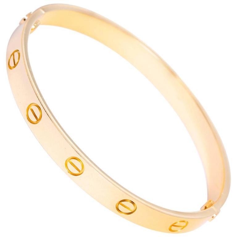 Cartier Yellow Gold Love Bracelet  1