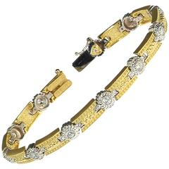 Two-Tone Gold and Diamond Bracelet