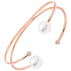 Rose Gold South Sea Bangle Bracelet