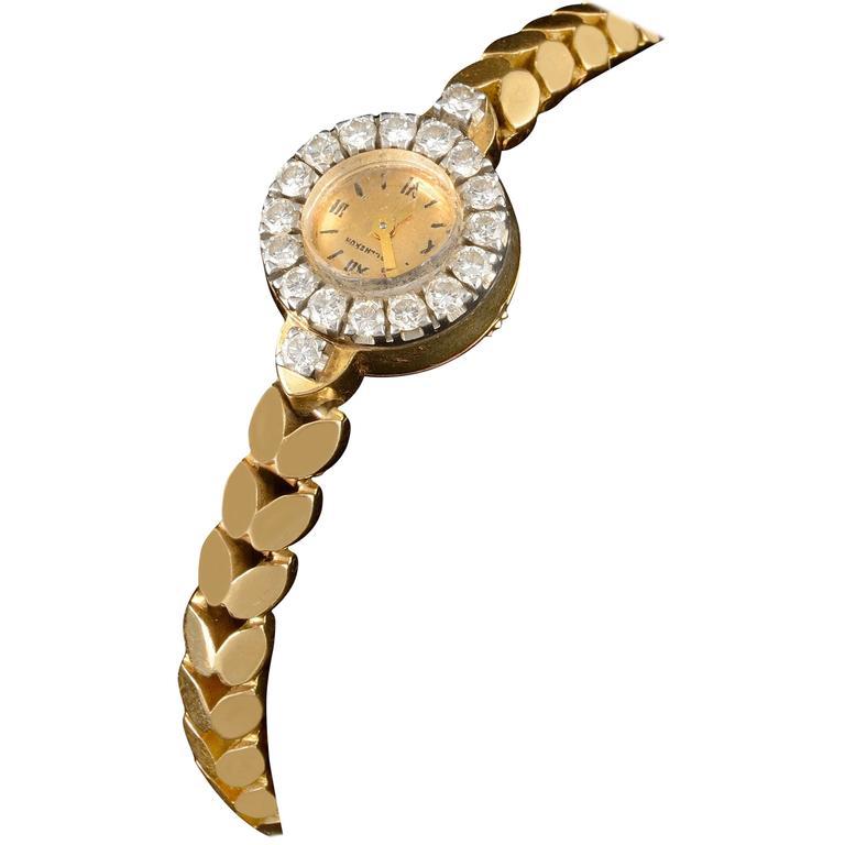 Boucheron Yellow Gold Diamond Wristwatch, circa 1960