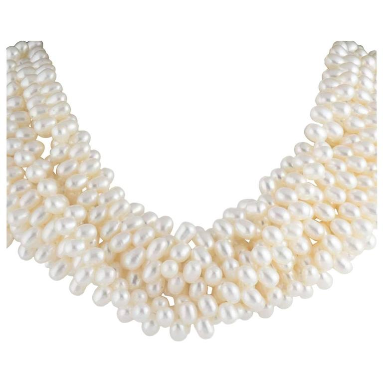 b02a8d674 HomeJewelry & WatchesNecklacesMulti-Strand Necklaces. Tiffany & Co. Paloma  Picasso Torsade Necklace For Sale