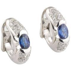 Bulgari Diamond and Sapphire Earrings